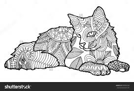 Cat Coloring Pages For Adults 19 Creative And Free Printable On Pinterest