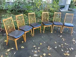 6 zeitgenössische 60er jahre esszimmerstühle skandinavischer stil