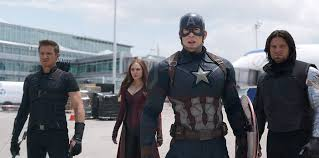 Captain America Civil War Jeremy Renner Elizabeth Olsen Chris Evans Sebastian