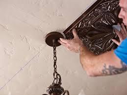 how to install tin ceiling tiles hgtv