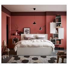 malm bettgestell 160cm breite für kleinere schlafzimmer
