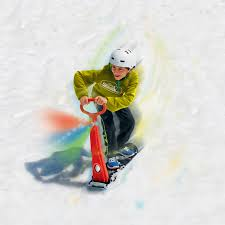 Christy Sports Ski Boots by Amazon Com Geospace Original Led Ski Skooter Fold Up Snowboard