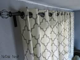 Telescopic Curtain Rod Ikea nodak nest how to make cheap and pretty curtain rods