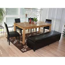garnitur sitzgruppe bank mit aufbewahrung kriens 4 stühle littau kunstleder leder schwarz