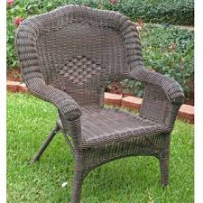 International Caravan Chelsea Resin Wicker Steel Patio Dining Chairs Set of 2