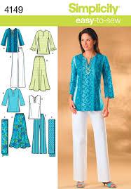 simplicity pattern s4149 misses u0027 u0026 plus size smart and casual