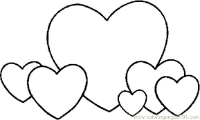 Valentine Heart Coloring Pages And Pictures Printable Hearts Pic For