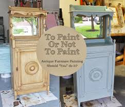 The ragged wren To Paint Not To Paint Antique Furniture