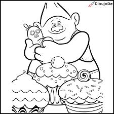 Dibujos Para Pintar De Trolls Libros Para Pintar Colorear Trolls