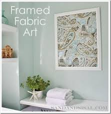 Framed Fabric Art In Minutes