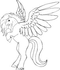 Barbie And Pegasus Coloring Pages Horse Page Realistic Colouring For Adults