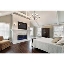 Living Room With Fireplace In The Middle by Wall Mounted Electric Fireplaces Electric Fireplaces The Home