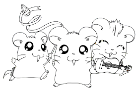 Happy Hamsters Coloring Page