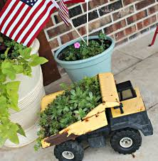 Easy Diy Succulent Plantermake It Today Planters And Gardens Dump Truck Flower Pot