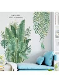 lucasng diy groß wandtattoo wandaufkleber grüne pflanze