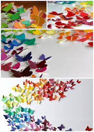 1 DIY Colorful Butterfly Paper Wall Art