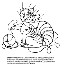 Cheshire Cat Coloring Page