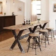 Farmhouse Pub Table Foter Rustic Bar Height Set