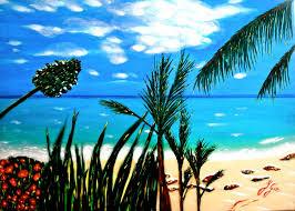 plage de rêve toiles paysages tableaux original sur toile