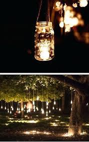Hanging Tree Lights Mason Jar Fairy Outdoor Wedding