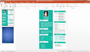 Powerpoint Resume Free Single Slide Template For Of Desain Cv Kreatif