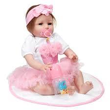 22 Pollici Handmade Vinyl Silicone Reborn Baby Dolls Lifelike