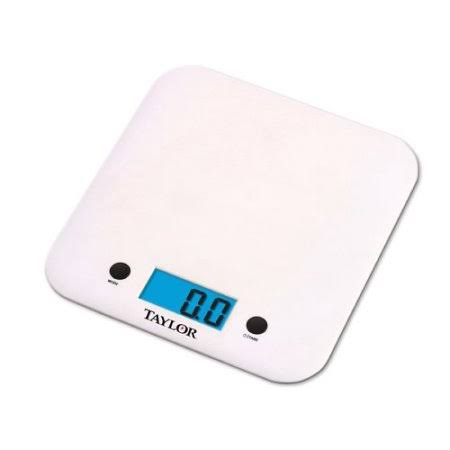 Taylor 3879 Ultra Thin Digital Food Scale - White