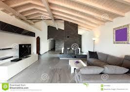innen großes wohnzimmer stockfoto bild leer kamin