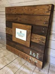 Recycled Pallet Sign Guestbook Unique Rustic Wooden Wedding Guest Book Ideas Custom Wood Wall Art Large 24x24