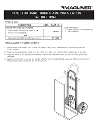 Magliner PANEL FOR HAND TRUCK FRAME User Manual | 2 Pages Hand Truck Assembly Youtube Magliner Gemini Jr Convertible Gma16uac Bh Photo Bearings Bushings Parts Accsories Caster Cnection Costco Members Cosco 3in1 Alum 80 At 750 Lb Capacity 27 In Alinum Curb Ramp With Nonskid Surface And Trucks Casters Midwest Industrial Equipment Assembly Itructions Instrucciones De Montaje Pallet Dolly Hitch Replacement Extruded Diecast Noses And Best 2017 Carts Hmk15aua4 Straightback