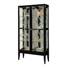 Pulaski Furniture Curio Cabinet by Shop Pulaski Glossy Black Rectangular Curio Cabinet At Lowes Com