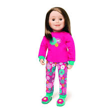 Amazoncom Maplelea Flower Girl PJs For 18 Inch Dolls Toys Games