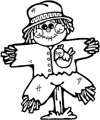 Kids Scarecrow Coloring Page