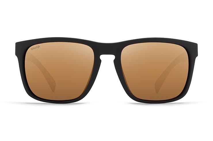VonZipper LOMAX Black Satin/Wild Gold Flash Polarized Sunglasses