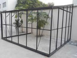 dé produits de chalet jardin serre adossée en verre