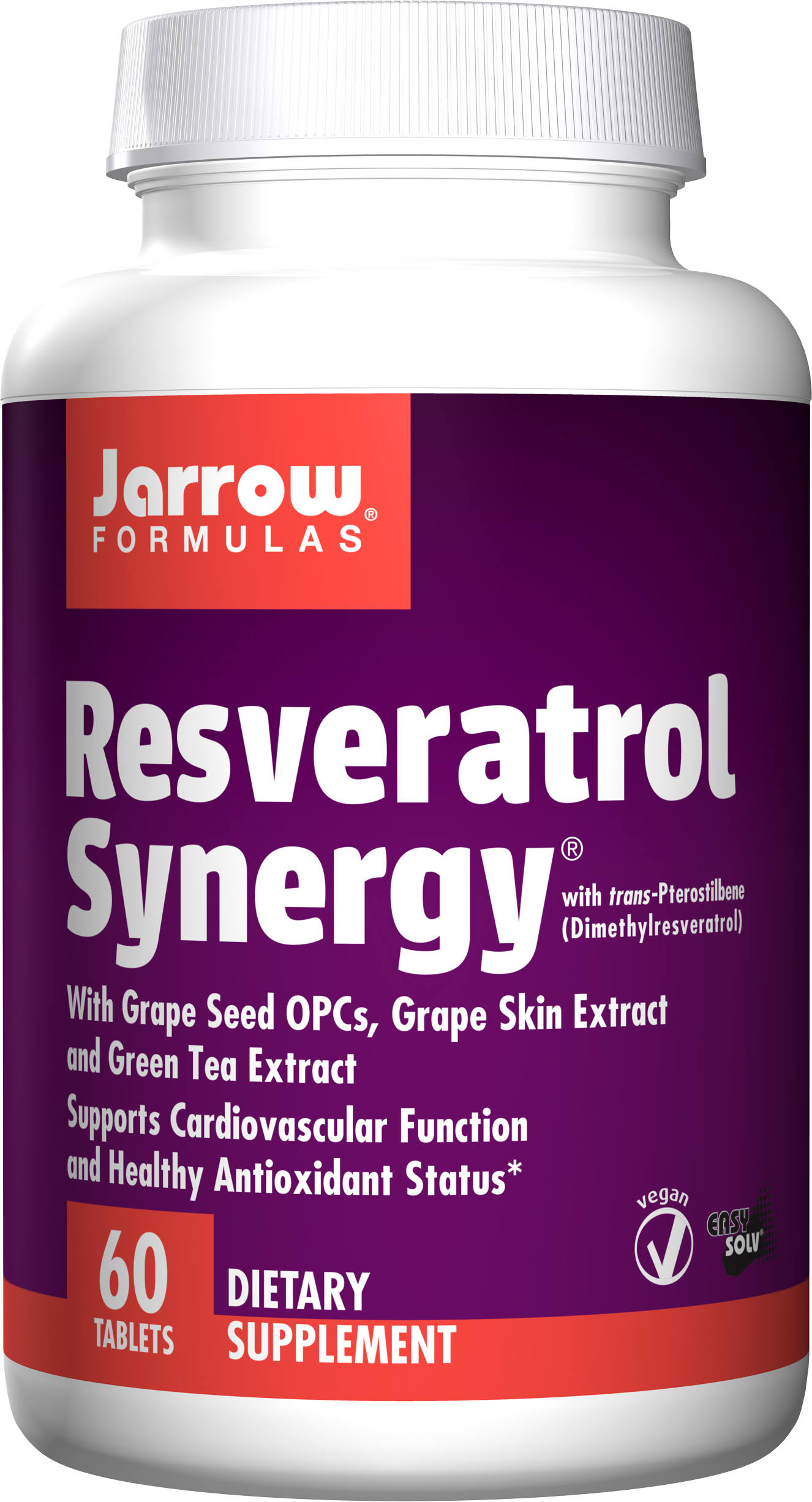 Jarrow Formulas Resveratrol Synergy Supplement - 60 Tablets