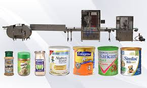 Fully Automatic Coffee Powder Filling Packing Machine Line For Metal Tin Cans