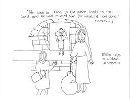 Coloring Pages Elijah And The Widow Page Breadedcat Within Of Zarephath