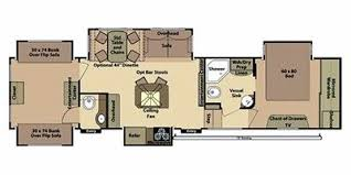 2 bedroom fifth wheel floorplans google search cer floor