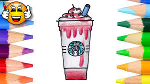 How To Color And Draw A Starbucks Strawberry Cheesecake Frappuccino