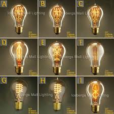 vintage edison incandescent light bulb a19 e27 25w 40w 60w 110v