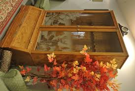 Wooden Gun Cabinet With Etched Glass by Gun Cabinet Etched Glass