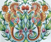 Lost Ocean Coloring Pages SEAHORSES From Book Oceano Perdido YouTube Homey Ideas 19 On