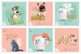 Secret Life Of Pets Valentines Day Printable Cards