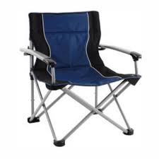 TOTAI Outdoor Locking Arm Camping Chair Navy Blue And Grey, Steel