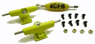 Buy 4CFB Fingerboard Trucks With Soft Bushings / 29mm Wide Color ...