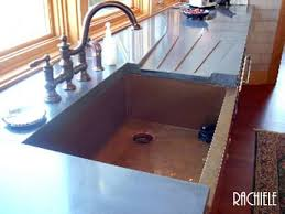 copper sinks rachiele copper sinks with drain boards custom made