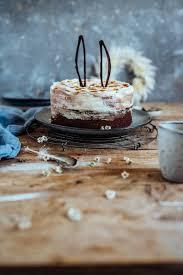 schoko mandelkuchen mit marmor creme ostern zu hause