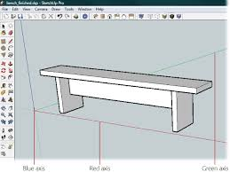 1 building a bench your first sketchup model google sketchup