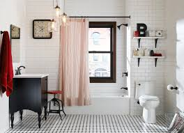 grey subway tile bathroom eclectic with 3纓6 subway tile black